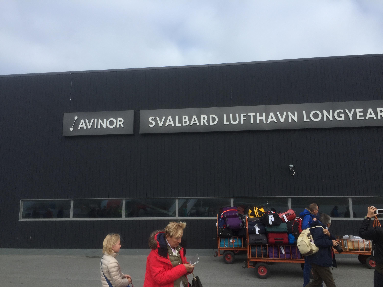Arrival in Longyearbyen, Svalbard