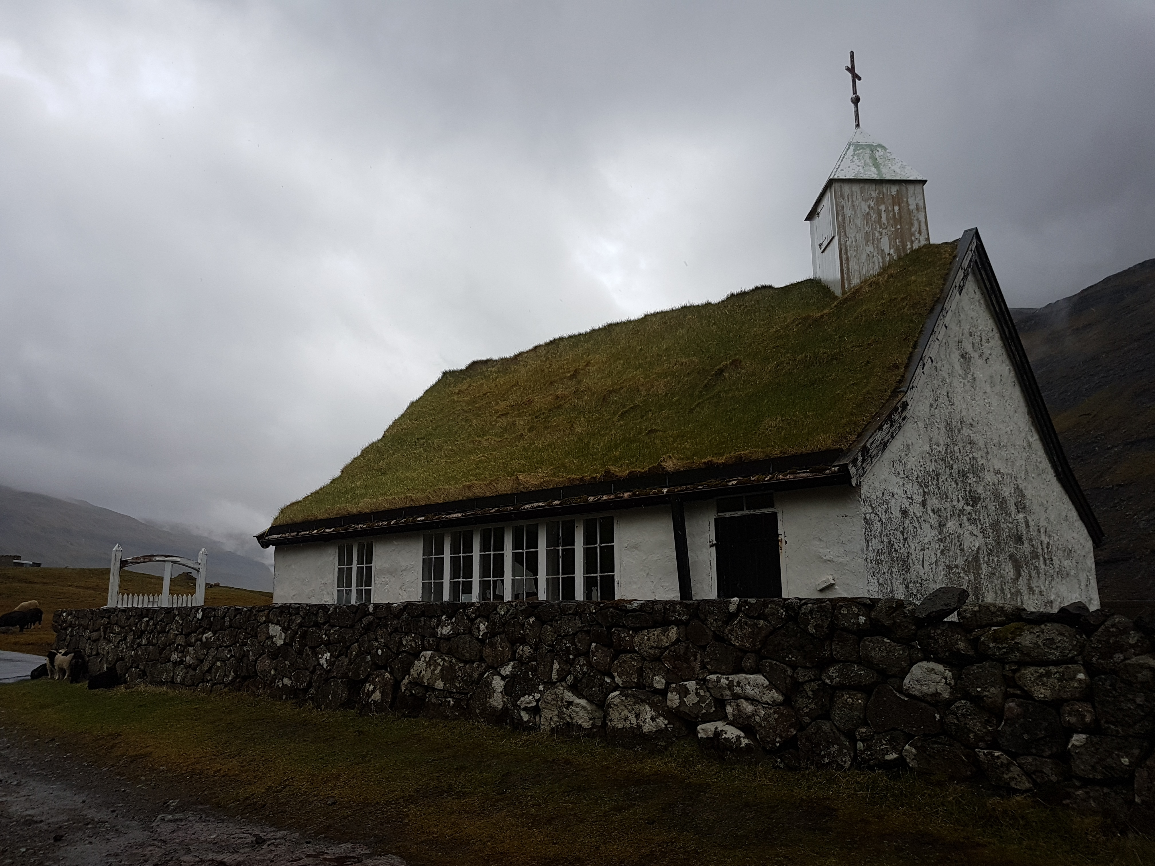 The small church in the village of Saksun