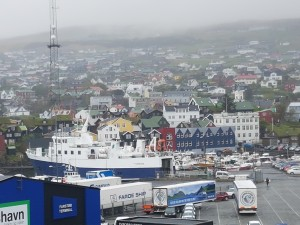 View over Torshavn harbor