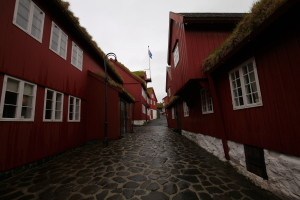 The old town of Torshavn. Government buildings.