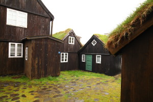 A backyard in the old town of Torshavn