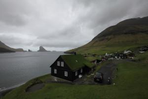 View from the village of Bøur over the Sørvágsføður