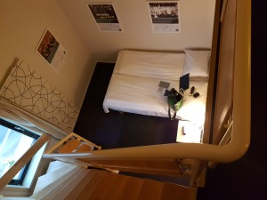 "View from my ""living room"" to the sleeping area of my suite at Quaility Panorama Trondheim"