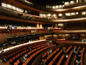 Inside the Norwegian National Opera house in Oslo