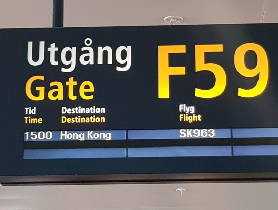On route to Hong Kong - day 2
