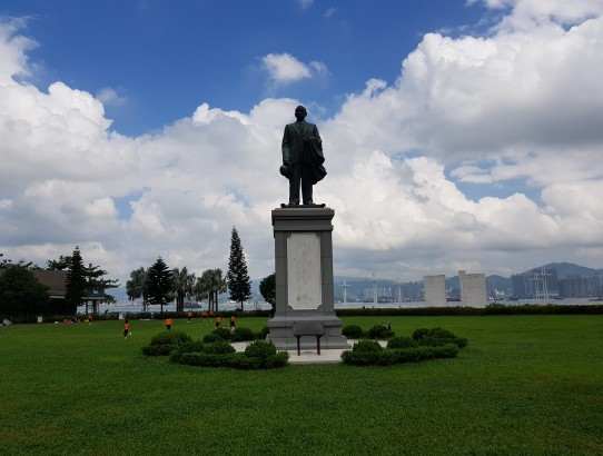 The place of the event - Sun Yat Sen statue