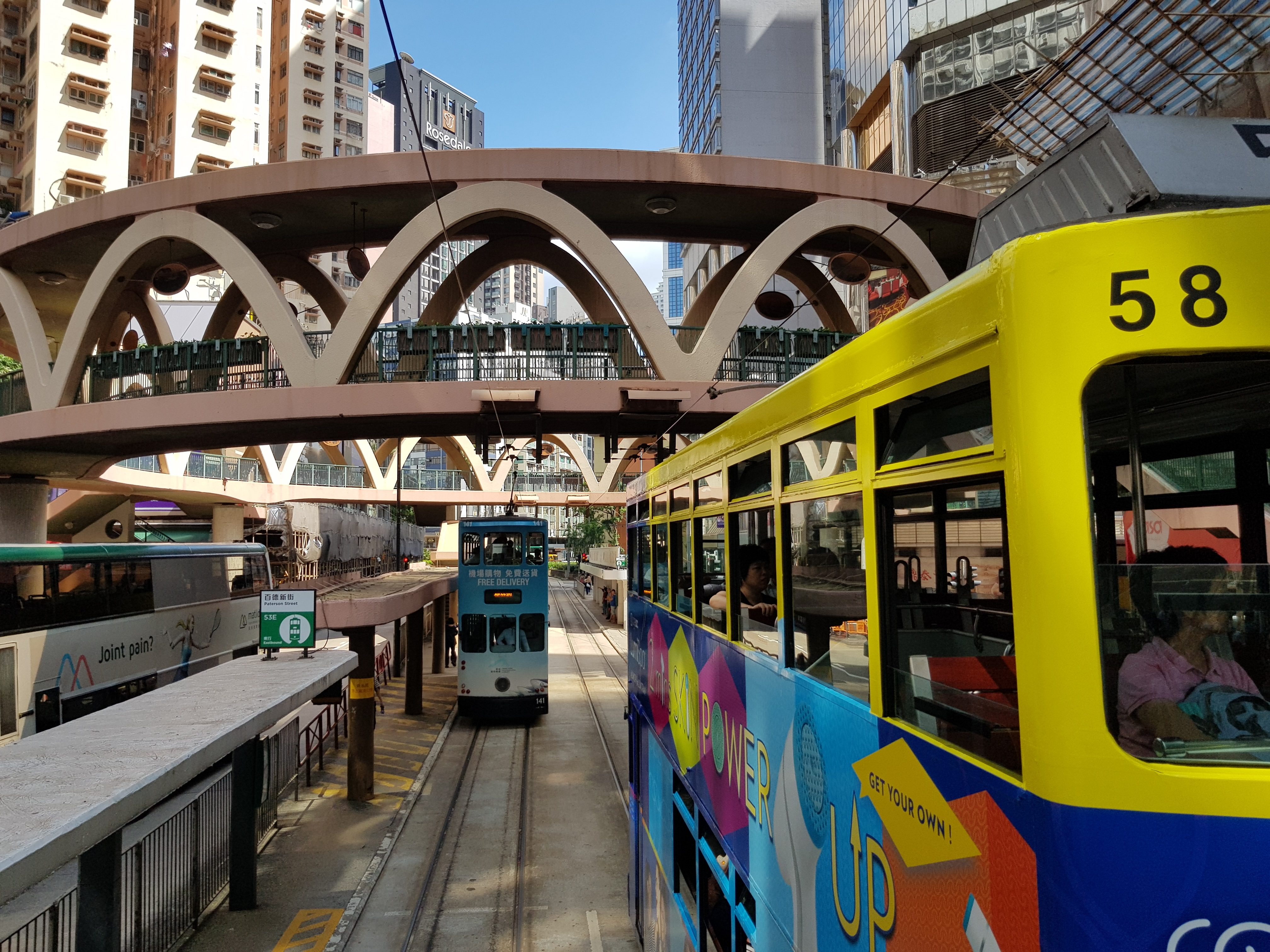 The Tram in Hong Kong Central