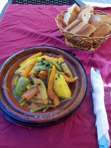 Lunchtime with a chicken and vegetable tajine