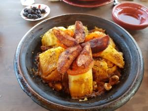 The chicken tajine (yumm)