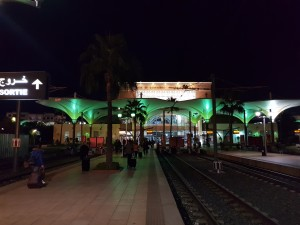 Marrakesh station - 2 hours late