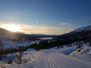 View over the cross-country track to  Svartløkvatnet