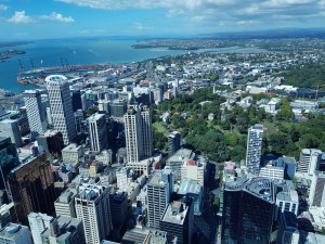 View over Auckland from the SkyTower