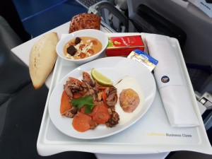 LH Business Class lunch