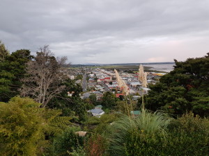 View over the town of Thames, Coromandel