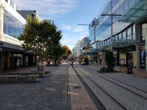 Christchurch CBD shopping street