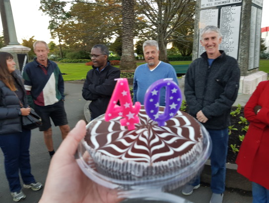 Geocaching event - TElgs 40th birthday in Nelson, New Zealand