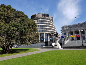 The Bee hive (part of the New Zealand parliament building)