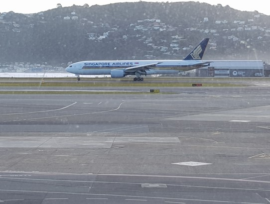Flight report Wellington - Singapore
