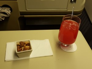 Yummy Singapore Sling, served after take off