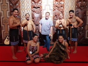 Me with the Maori warriors and maiden