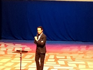 Jimmy Carr in action