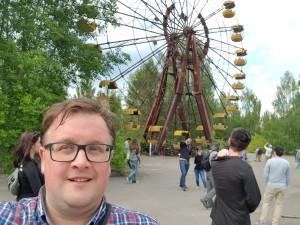 Me in Prypiat at the Ferris wheel