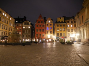 Stortorget at night