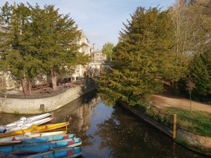 River Chervell with the typical boats