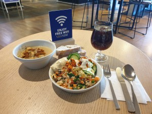 A small lunch at SAS international lounge