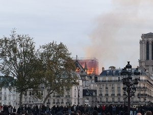 Notre Dame is burning