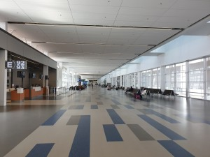 An empty terminal at Calgary airport