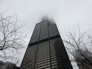 """Sears"" tower in the clouds. Poor people that payed for the view from the top floor :)"