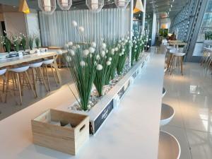 Finnair lounge at Helsinki airpoert