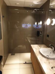 Bathroom at the domestic SAS lounge at OSL